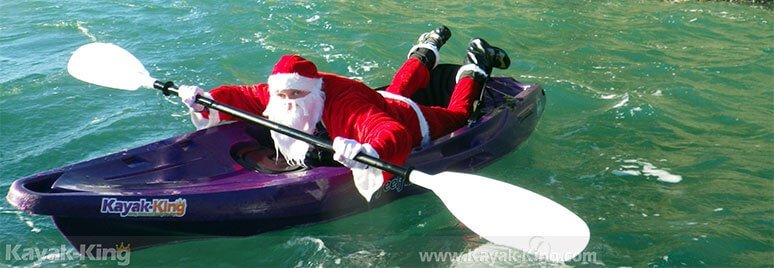 Santa on a Kayak
