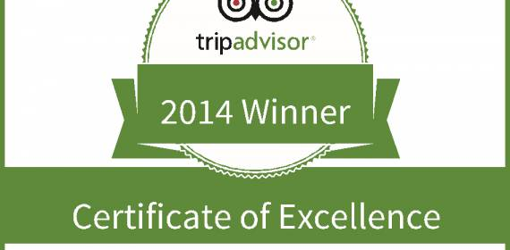 KAYAK-KING AWARDED 2014 TRIPADVISOR CERTIFICATE OF EXCELLENCE
