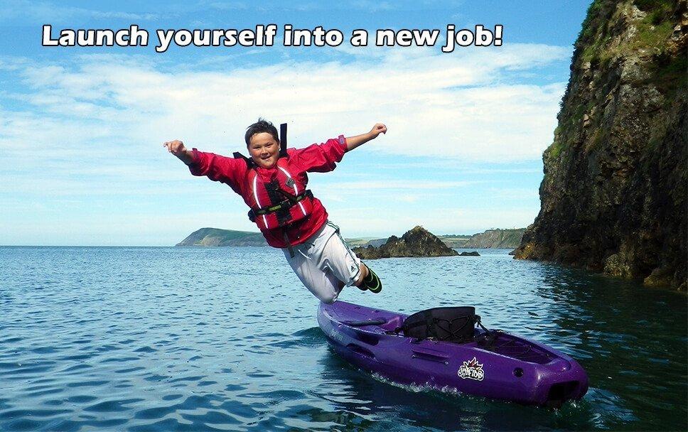 Kayaking jobs in Pembrokeshire on the sea