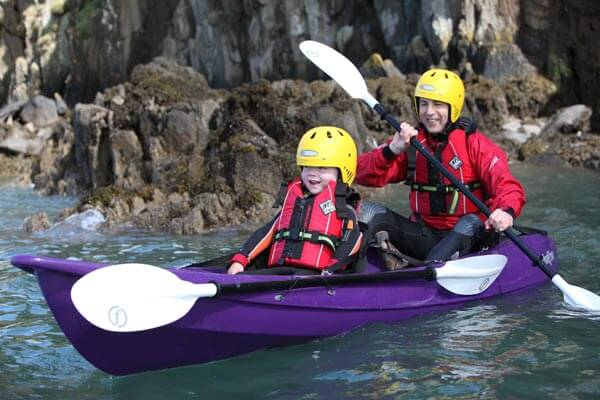 family kayaking tour Pembrokeshire