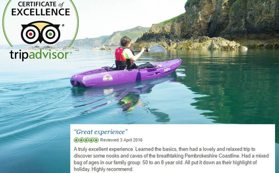 KAYAK-KING AWARDED 2016 TRIPADVISOR CERTIFICATE OF EXCELLENCE