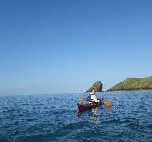 Crossing jack sound, kayaking to Skomer island