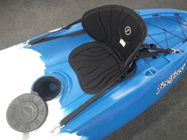 deluxe kayak seat on kayak